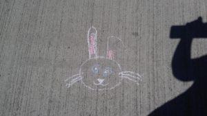 Stoepkrijt konijn